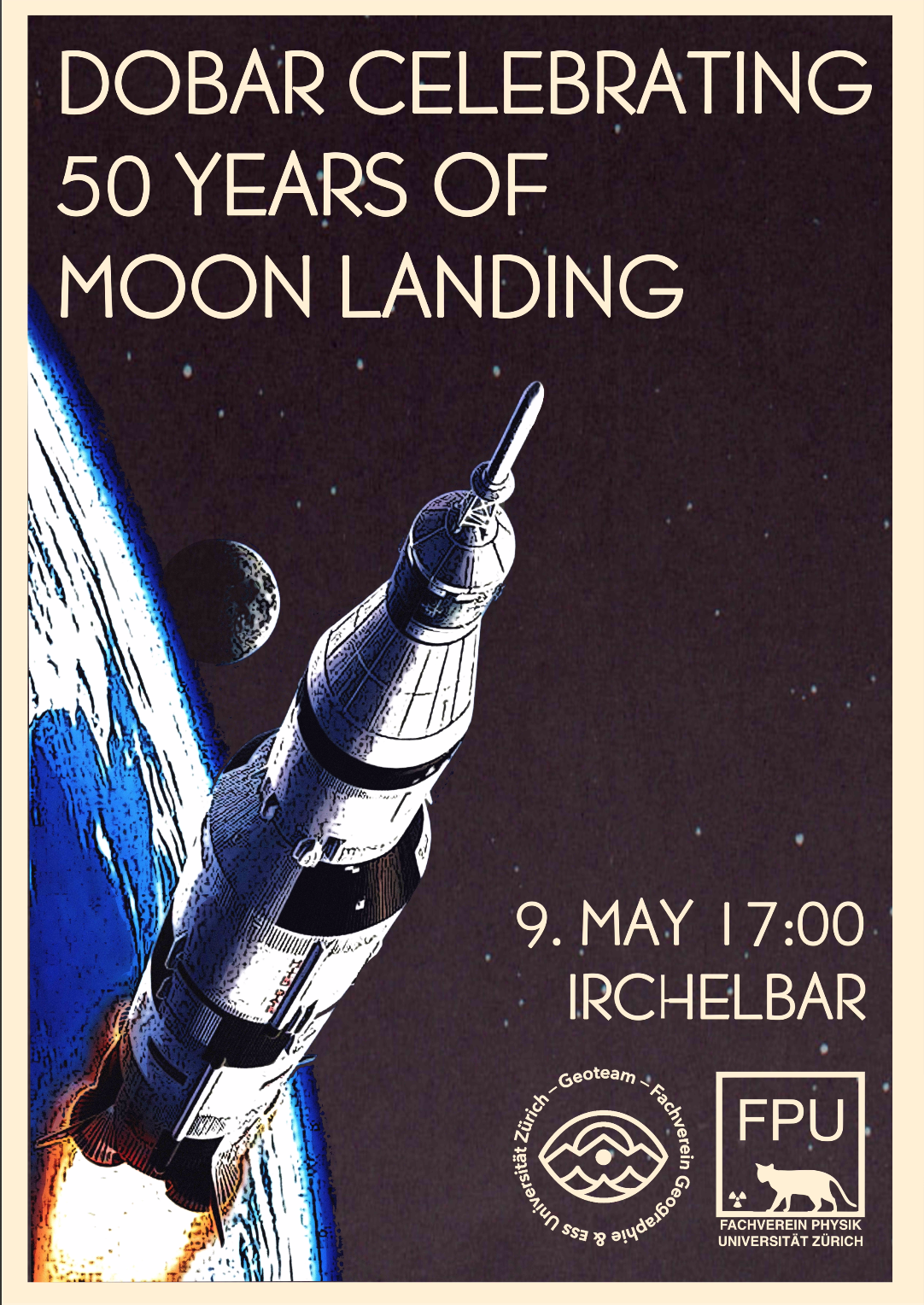 DoBar Celebrating 50 Years of Moonlanding, 9.May 17:00, Irchelbar